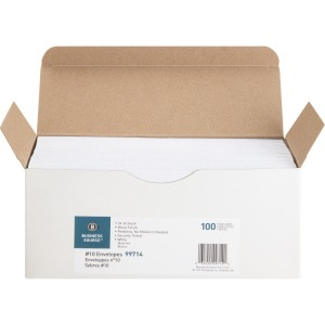 Business Source No. 10 Peel-to-seal Security Envelopes