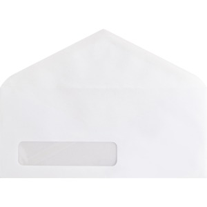 Business Source No. 10 V-Flap Window Envelopes