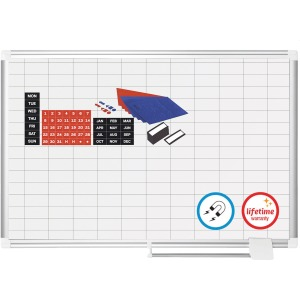 "MasterVision Platinum Pure 1""x2"" Grid Planning Board"