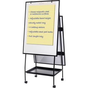 MasterVision Melamine Double-sided Easel