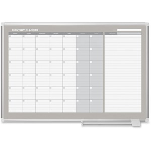 MasterVision MasterVision 3' Magnetic Gold Monthly Planner