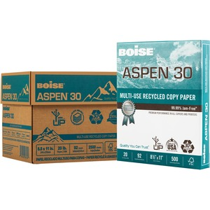 Boise ASPEN Laser Copy & Multipurpose Paper - 30% Recycled