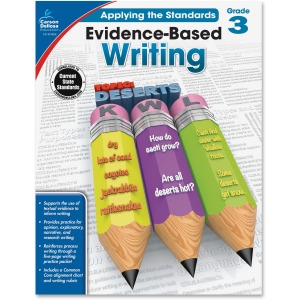 Carson-Dellosa Grade 3 Evidence-Based Writing Workbook Education Printed Book for Art