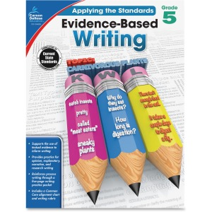 Carson-Dellosa Grade 5 Evidence-Based Writing Workbook Education Printed Book for Art
