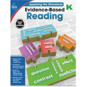 Carson-Dellosa Grade K Evidence-Based Reading Workbook Education Printed Book for Art