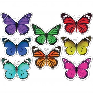 Carson Dellosa Education Woodland Whimsy Butterflies Cut-Outs Set
