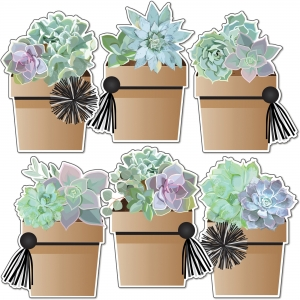 Carson Dellosa Education Simply Stylish Potted Succulents Cut-Outs