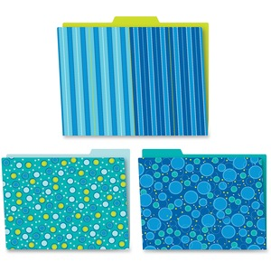 Carson-Dellosa Bubbly Blues File Folders Set