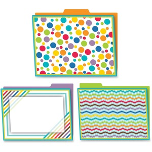 Carson-Dellosa Color Me Bright Design File Folders Set