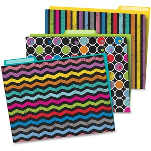 Carson-Dellosa Colorful Chalkboard File Folders Set
