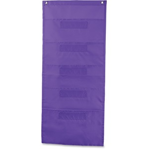 Carson-Dellosa File Folder Storage Purple 5-Pocket Chart