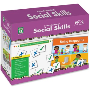 Carson Dellosa Education Grade PreK-2 Social Skills File Folder Game