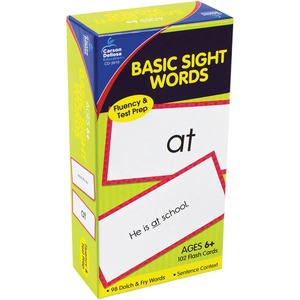 Carson-Dellosa Publishingflash Cards, Basic Sight Words, 3W X 6H, 102/Pack