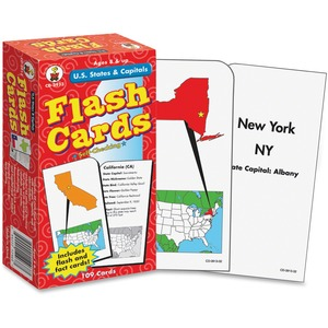 Carson-Dellosa Publishingflash Cards, U.S. States And Capitals, 3W X 6H, 109/Pack