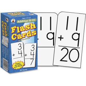Carson-Dellosa Grades 1-3 Addition 0-12 Flash Cards Set