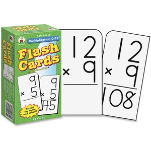 Carson Dellosa Education Grades 3-5 Multiplication 0-12 Flash Cards