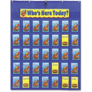 Carson Dellosa Education PreK-Grade 5 Attendance/Multiuse Pocket Chart