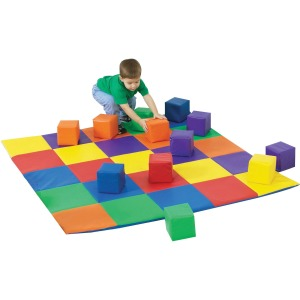 Children's Factory Patchwork Mat Matching Blocks Set