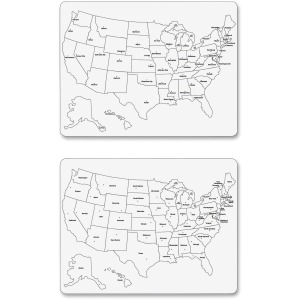 Creativity Street Large USA Map Whiteboard