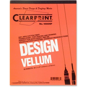 Clearprint Design Vellum Pad - Letter