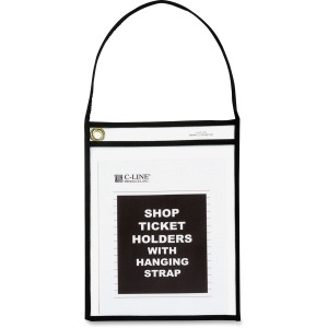 C-Line Shop Ticket Holder With Hanging Strap
