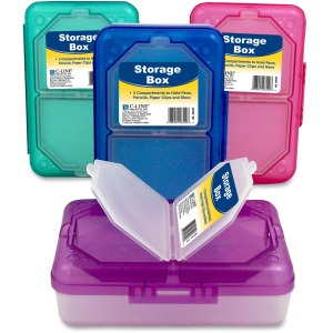 C-Line Products Storage Box, Assorted, 1 Box (Color May Vary)