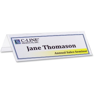 C-Line Heavyweight Rigid Plastic Name Tent Holder