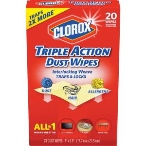 Clorox Healthcare Triple Action Dust Wipes