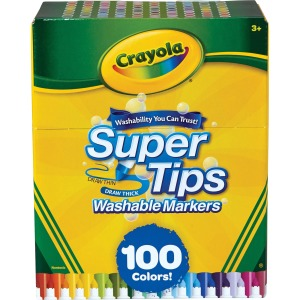 Crayola Super Tips Washable Markers 100 unique colors washable