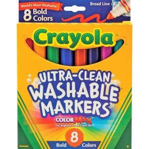 Crayola Washable Bold Colors Broad Line Markers