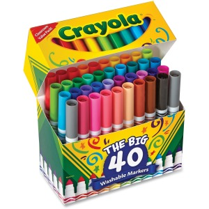 Crayola 40 Count Ultra-Clean Washable Broad Line Markers