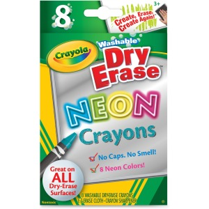 Crayola Washable DryErase Neon Crayons