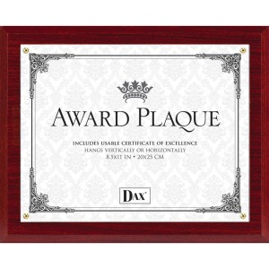 DAX Mahogany Wall Award Plaque