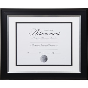 Dax 2-tone Silver Document Frame