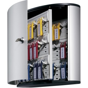 DURABLE® Brushed Aluminum Keyed Lock 36-Key Cabinet
