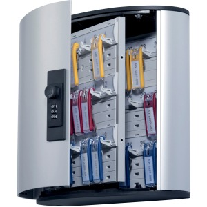 DURABLE® Brushed Aluminum Combo Lock 36-Key Cabinet