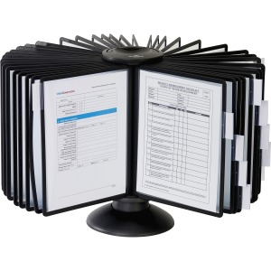 DURABLE® SHERPA® Carousel Desktop Reference Display System