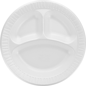 Dart 3-sect Disposable Foam Dinnerware Plate