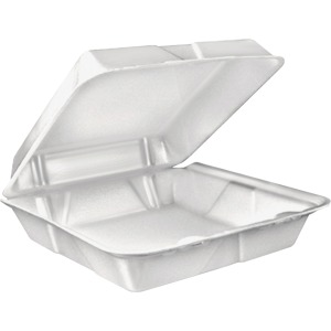 Dart Large 1-Compartment Carryout Foam Trays