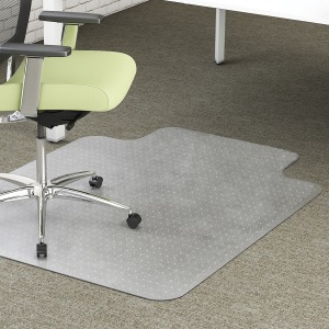 deflecto EnvironMat Low-pile Wide Lip Chairmat