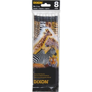 Dixon No. 2 Animal Print Pencils
