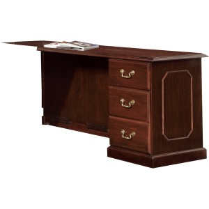 DMi Governor's Collection Mahogany Furniture Pedestal Desk - 3-Drawer