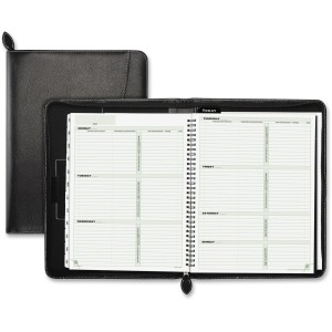 Day-Timer Green Series Black Leather Organizer Starter Set