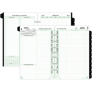Day-Timer 2-page-per-day Loose-leaf Original Planner Refills