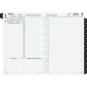 Day-Timer 2-page-per-day Reference Planner Refill