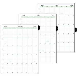 Day-Timer Appointment 2-page-per-day Reference Planner Refills