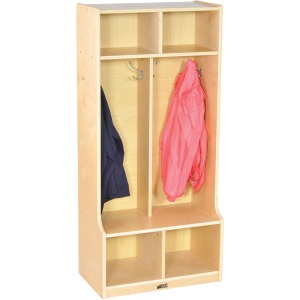 ECR4KIDS 2-section Bench Coat Locker