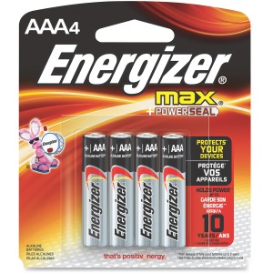 Energizer MAX Alkaline AAA Batteries, 4 Pack
