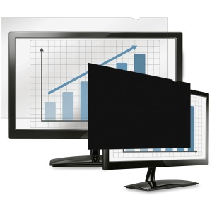 Fellowes PrivaScreen Blackout Privacy Filter Crystal Clear, Black