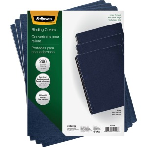Fellowes Expressions™ Linen Presentation Covers - Oversize Navy 200 pack